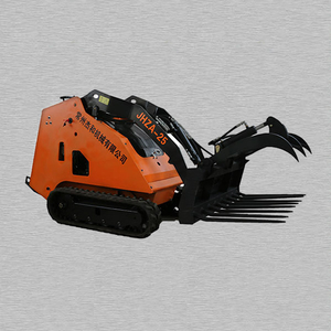 Mini Skid Steer Loader Timber Wood Grab